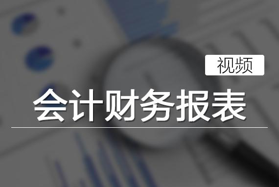 会计财务报表(视频)
