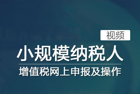 增值税网上申报及操作(小规模纳税人)
